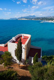 Moraira Alicante high angle view mediterranean houses Royalty Free Stock Photo