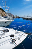 Moraira Alicante marina in Mediterranean sea Stock Photography
