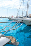 Moraira Alicante marina in Mediterranean sea Royalty Free Stock Photography