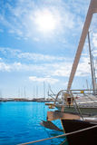 Moraira Alicante marina in Mediterranean sea Stock Photo