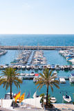 Moraira Alicante marina nautic port high in Mediterranean Royalty Free Stock Image