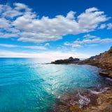 Moraira Cala Andrago beach in Teulada Alicante Stock Image