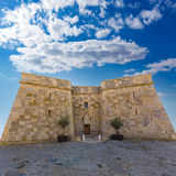 Moraira Castle in teulada beach at  Alicante Royalty Free Stock Photography