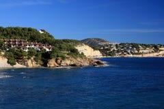 Moraira coast in Alicante - Spain. Coast landscape in Alicante Beach - Spain royalty free stock photography