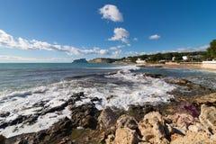 Moraira coastline in a sunny day Royalty Free Stock Photos
