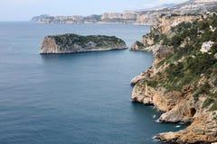 Moraira Küste Stockbilder