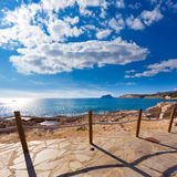 Moraira in Mediterranean Alicante at Spain Stock Image