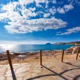 Moraira in Mediterranean Alicante at Spain. Moraira in Mediterranean with Ifach penon calpe view Alicante at Spain Stock Image