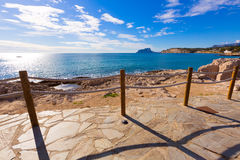 Moraira in Mediterranean Alicante at Spain Royalty Free Stock Images