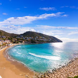 Moraira playa el Portet beach in  Alicante Royalty Free Stock Photography