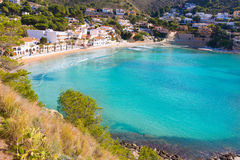 Moraira playa el Portet beach in  Alicante Royalty Free Stock Photos
