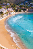 Moraira playa el Portet beach in Alicante Stock Image