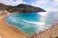 Moraira playa el Portet beach in  Alicante Stock Images