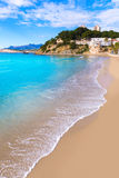 Moraira playa El Portet beach  in Alicante Royalty Free Stock Images