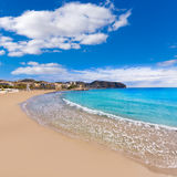 Moraira Playa la Ampolla beach in Alicante Spain Royalty Free Stock Photography