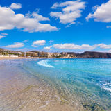 Moraira Playa la Ampolla beach in Alicante Spain Royalty Free Stock Photo