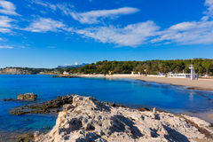 Moraira Playa la Ampolla beach  Alicante Spain Stock Photos