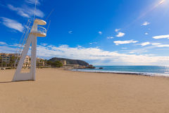Moraira Playa la Ampolla beach Alicante Spain Royalty Free Stock Image