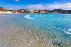 Moraira Playa la Ampolla beach Alicante Spain Royalty Free Stock Images