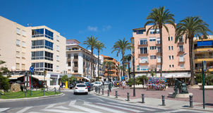 Moraira, Spain. Streets of the city of Moraira, Costa Blanca, Spain Stock Photos
