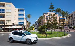 Moraira, Spain. Streets of the city of Moraira, Costa Blanca, Spain Royalty Free Stock Photo