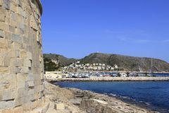 Moraira Teulada Alicante Castle Mediterranean Royalty Free Stock Images