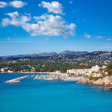 Moraira Teulada marina port in Alicante Stock Photography