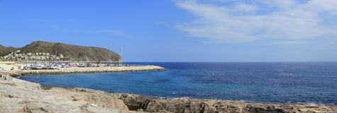 Moraira Teulada Mediterranean panoramic coast Royalty Free Stock Photos