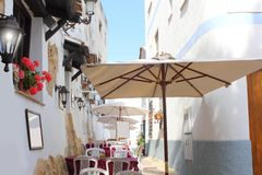 Moraira Teulada mediterranean village streets Stock Photos