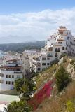 Moraira village mediterranean country in Spain Stock Photo