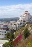 Moraira village mediterranean country in Spain stock photo