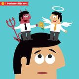 Moral choice, business ethics and temptation. Business life. Moral choice, business ethics and temptation concept vector illustration Stock Images