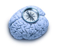 Moral Compass Ethics Brain Stock Image