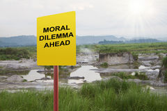 Moral Dilemma Ahead Royalty Free Stock Images