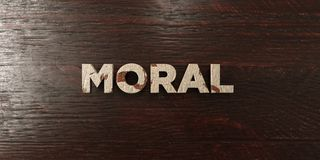 Moral - grungy wooden headline on Maple  - 3D rendered royalty free stock image. This image can be used for an online website banner ad or a print postcard Stock Image