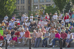 Moral Monday Demonstration in Asheville Stock Photo