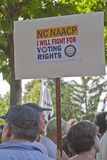 Moral Monday Protesters Hold NAACP Voting Rights Sign Stock Photography