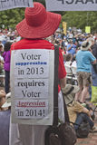 Moral Monday Rally Voting Sign Royalty Free Stock Photography