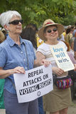 Moral Monday Voting Rights and Love Signs Royalty Free Stock Photography