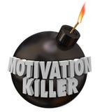 Moral rond du mauvais de découragement de bombe de tueur de motivation illustration de vecteur