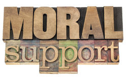 Moral support in wood type Royalty Free Stock Image
