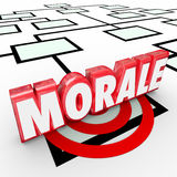 Morale 3d Word Organiztion Chart Improve Employee Workforce Atti. Morale 3d Word on an organization chart to illustrate employee attitude, work ethic and Royalty Free Stock Images