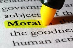 Morale de mot mise en valeur avec un repère jaune photo libre de droits
