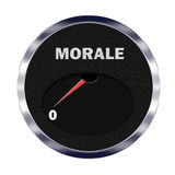 Morale meter reading zero Stock Image