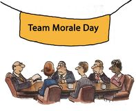 Morale. Sign reads, Team Morale Day Royalty Free Stock Photography