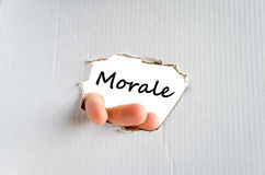 Morale text concept. Isolated over white background Royalty Free Stock Photography
