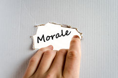 Morale text concept. Isolated over white background Royalty Free Stock Photos