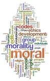 moralisk wordcloud stock illustrationer