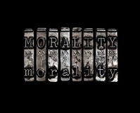 Morality concept. In metal word Stock Image