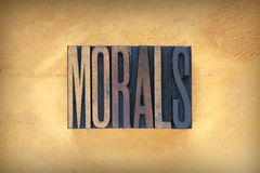 Morals Letterpress Royalty Free Stock Photos